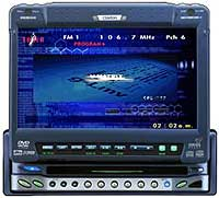DVD player com monitor Clarion VRX925VD